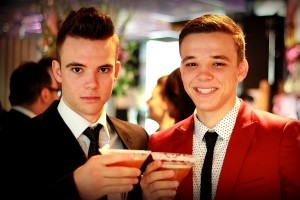 Boys with cocktails