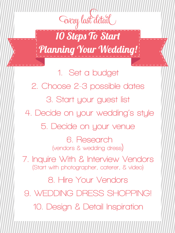 Step for wedding