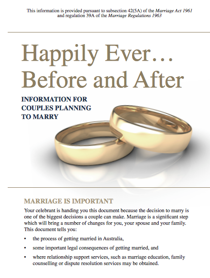 Happily Ever After Brochure